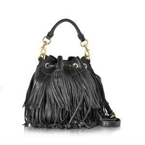Rebecca Minkoff Leather Fringe Fiona Bucket Bag